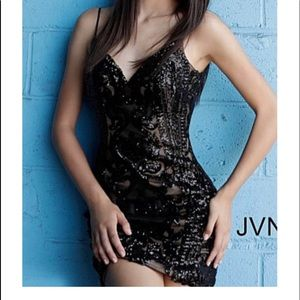 black jovani sequence homecoming dress